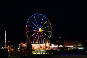 Iowa County Fair midway Sunday night