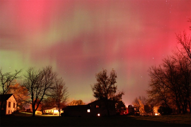 Red Aurora, Mineral Point October 2011, Image by John Wunderlin