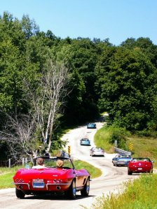 Egan's choice ride through the area: A Miata - - but hey - any roadster will do! (Mike Peroutka photo from the OpenAir Classic tour 2011)