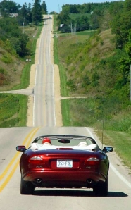 Drivers love the roller coaster hills around Mineral Point.