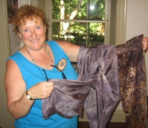 Learn to dye silk scarves with Wisconsin Gardener Shelly Ryan