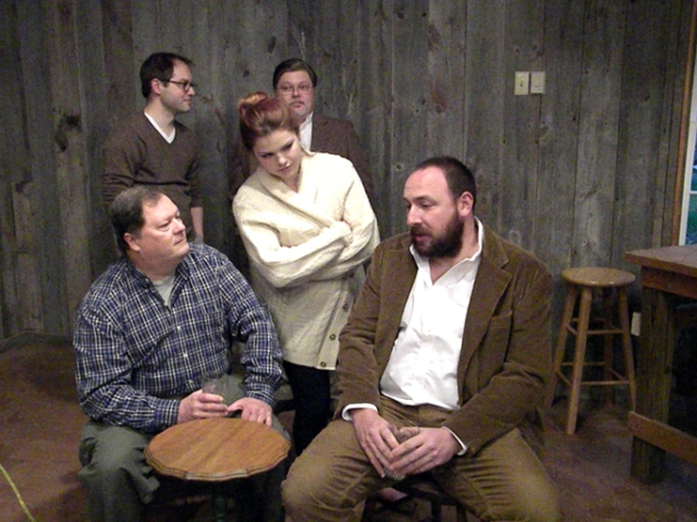 "The cast of ""The Weir."""